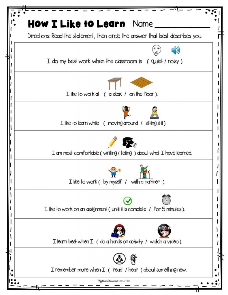 learning styles inventory for elementary student