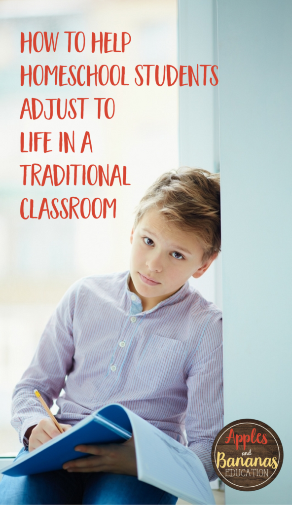 how to help homeschool students adjust to traditional classroom