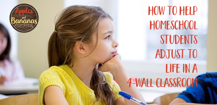 Help Homeschoolers Adjust to a Traditional Classroom