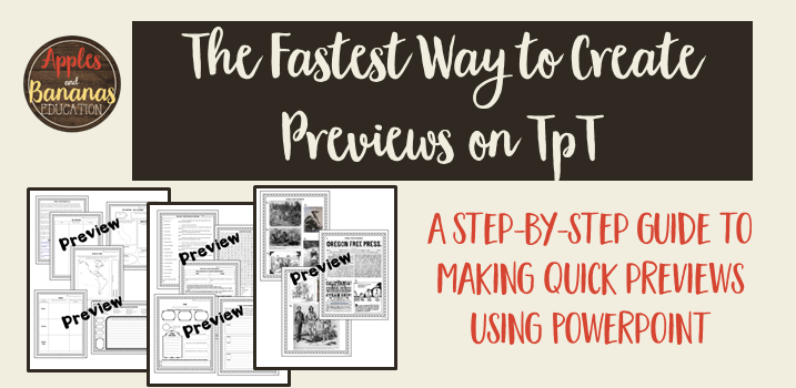How To Quickly Create TpT Previews
