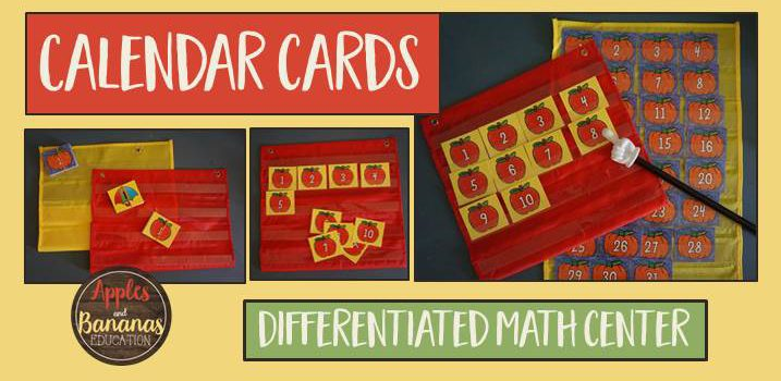 Calendar Cards Math Center