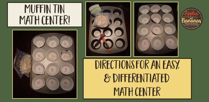 Muffin Tin Math Center