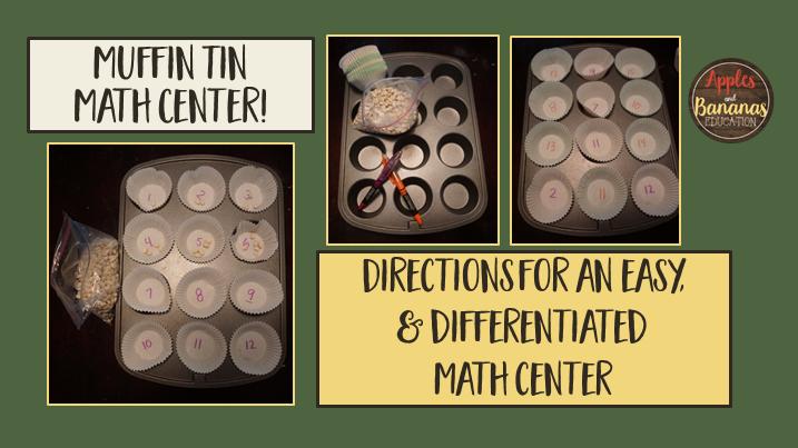 muffin tin math center