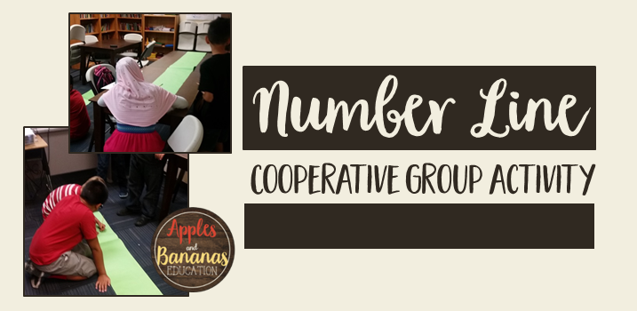 number line cooperative group activity