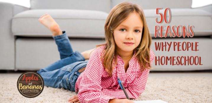 50 Reasons People Homeschool