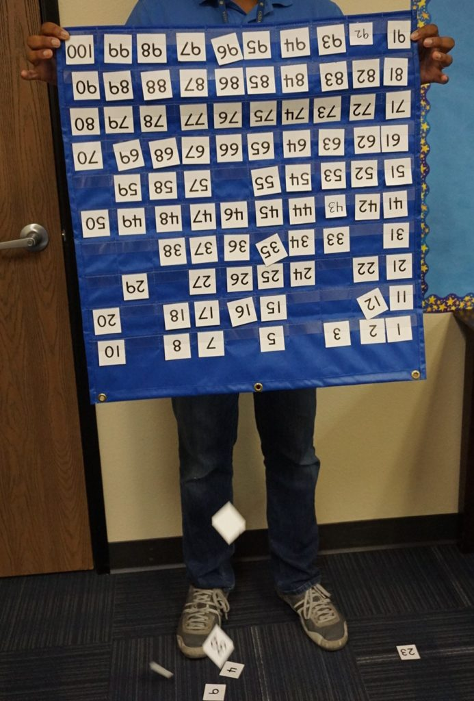 Here's a quick activity for your class, small groups, or individual math students. Take out your hundreds chart, give it a shake, and let the fun begin!