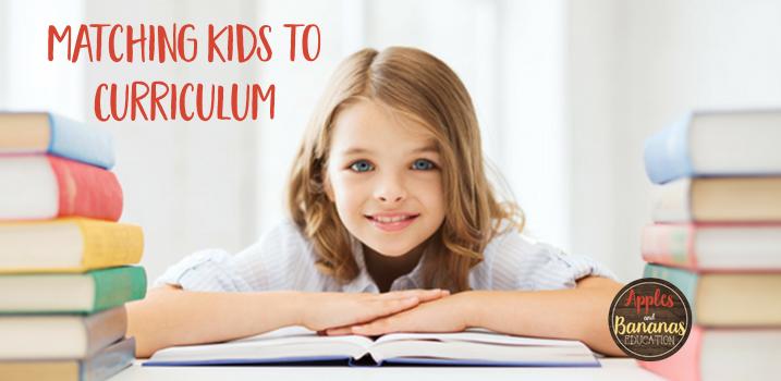 Matching Kids to Curriculum
