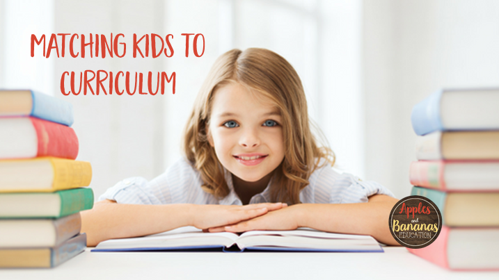matching kids to curriculum