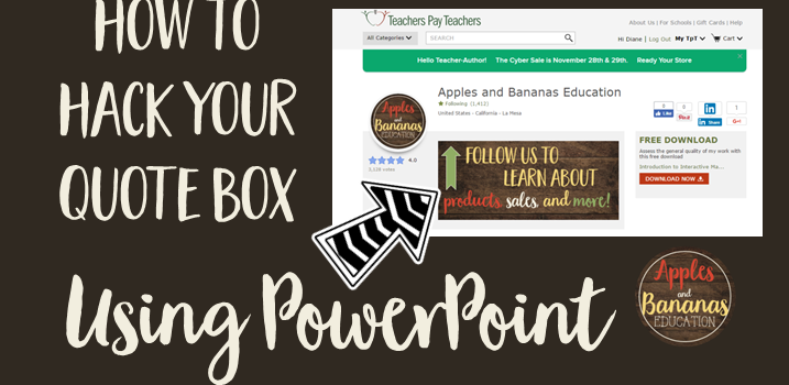 How To Hack Your TpT Quote Box Using PowerPoint