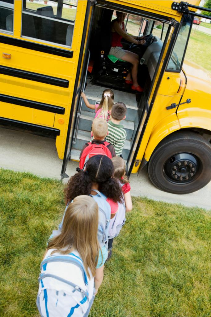 Field trips kids on bus