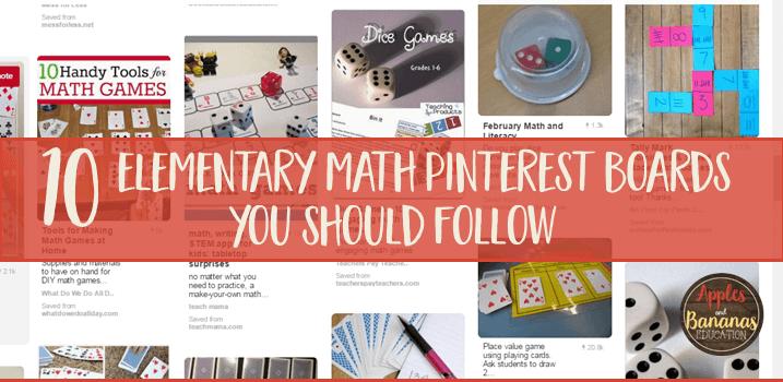 10 Elementary Math Pinterest Boards You Should Follow