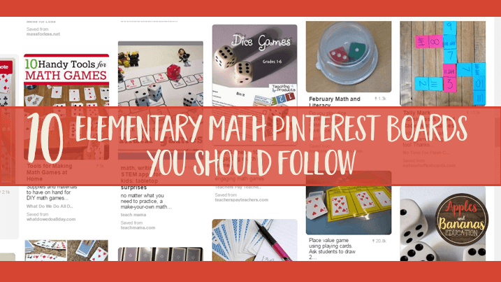 Best Pinterest Boards Elementary Math