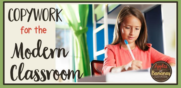 copywork in the modern classroom