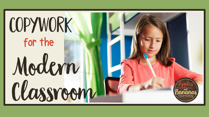 copywork in the modern classroom