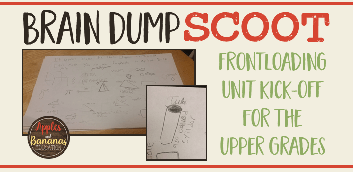 Brain Dump SCOOT for the Upper Grades