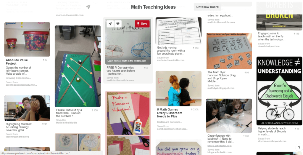 Math in the Middle Pinterest