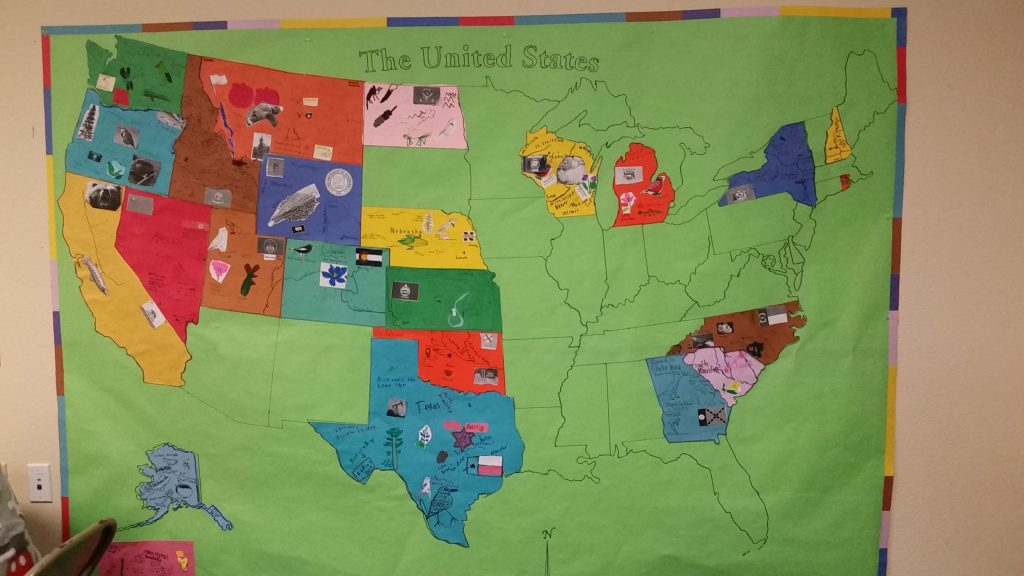 50 States Map Research Activity