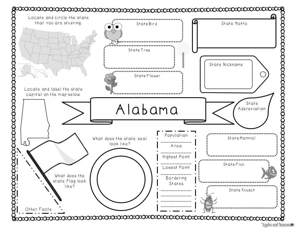 Alabama note taking template