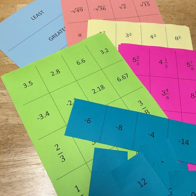 number line card pack