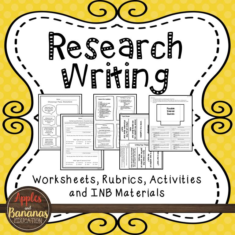 research writing product cover