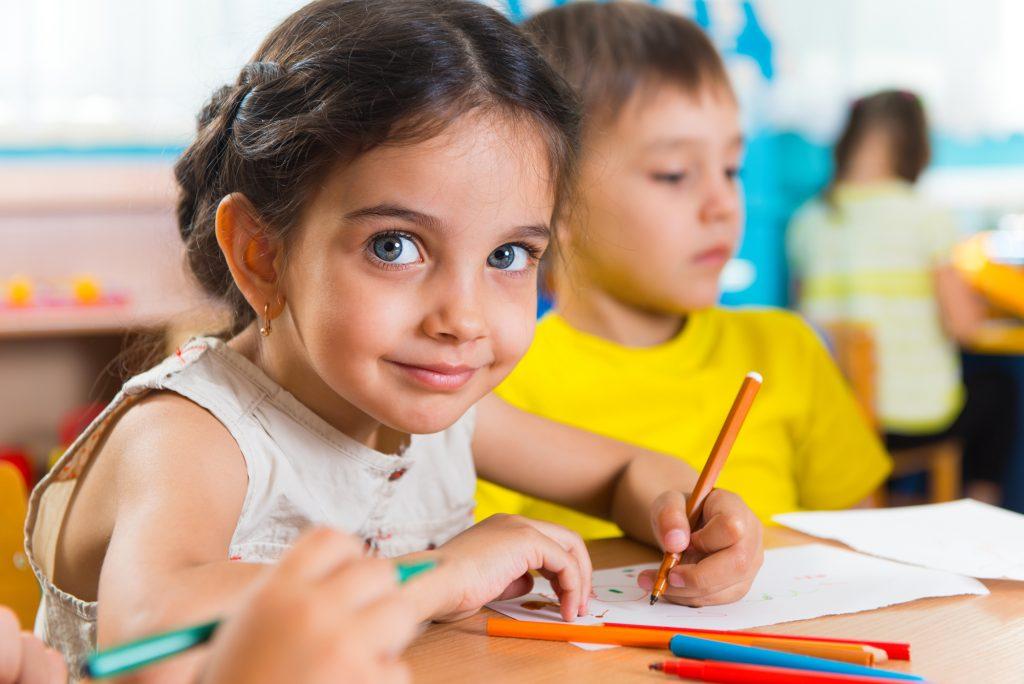 cute girl coloring