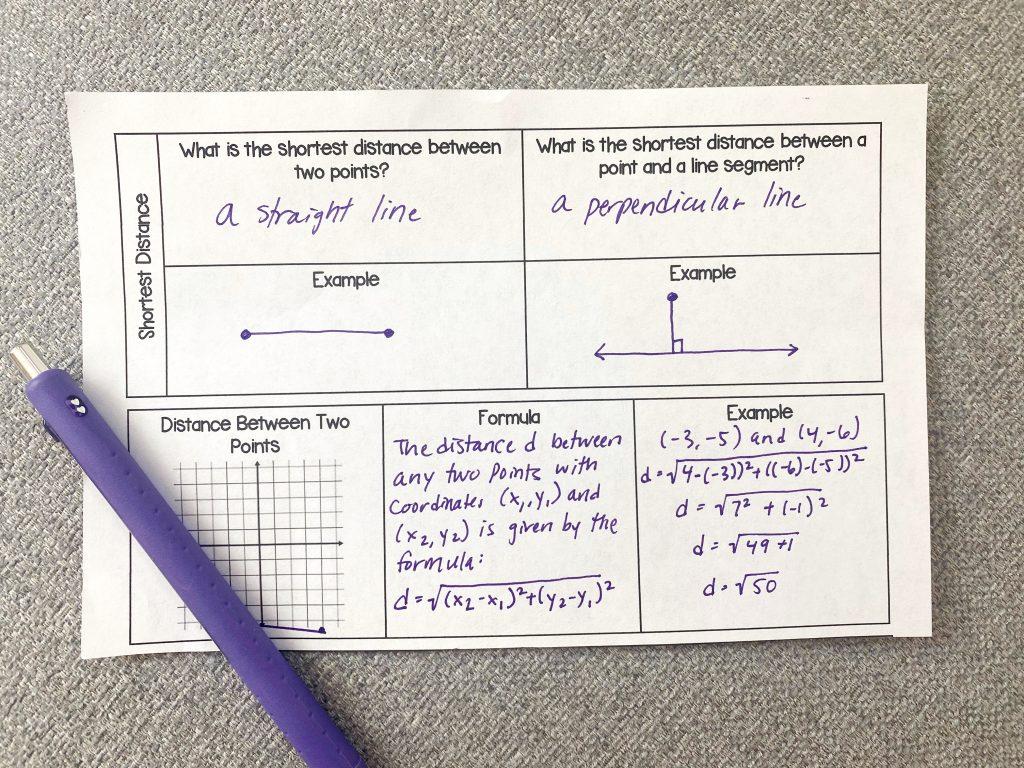 close up image of math notes